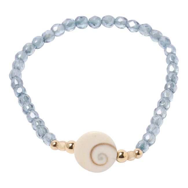In Actie voor ALZ armband Shiva Eye schelp