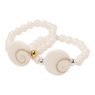 Witte ring Shiva schelp