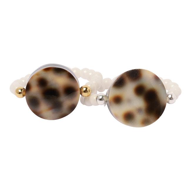 Witte ring luipaard schelp