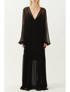 Matin Laren Silk Wrap Dress