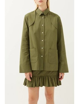 Matin Utility Button Front Shirt
