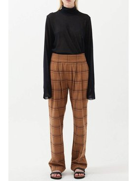 Matin Check Pleat Pants