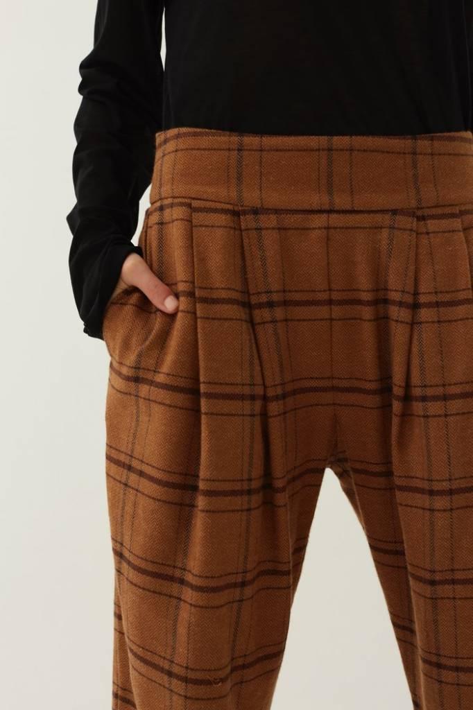 Matin Check Pleat Pants