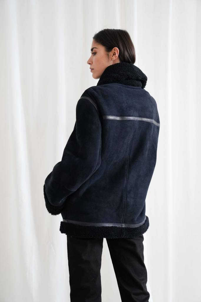 Arjé The Geo Reversible Shearling Jacket