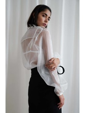 Matin Full Sleeve Silk Organza Shirt