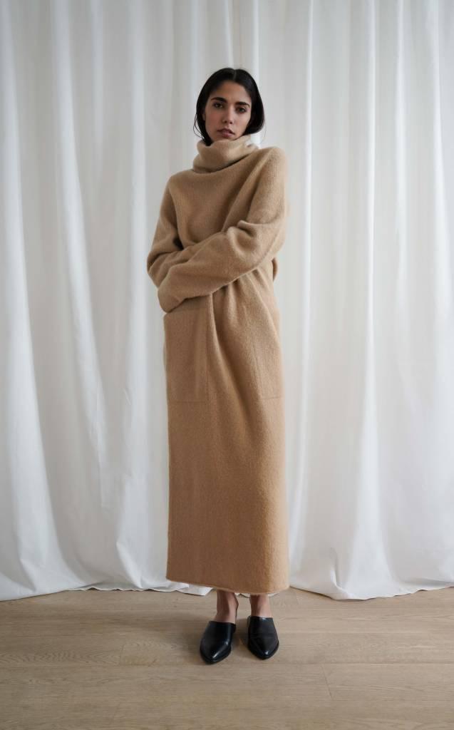 Lauren Manoogian Cashmere Funnel Dress