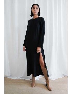 Matin Silk Dress W. Split