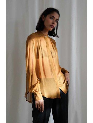 Matin Silk Georgette Yoke Shirt