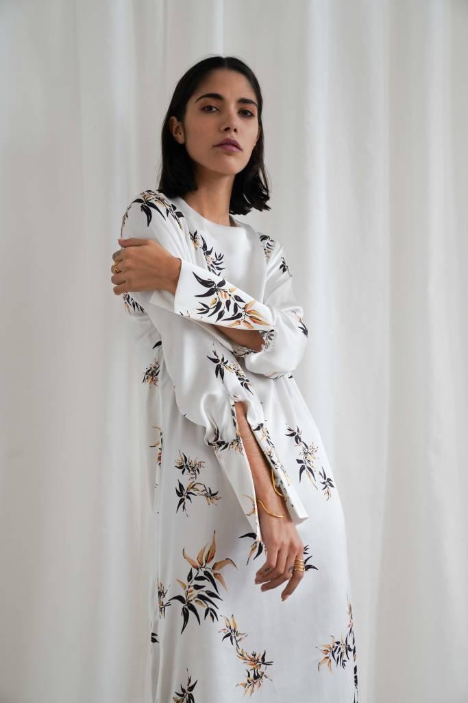 Matin Bamboo Print Wide Cuff Dress