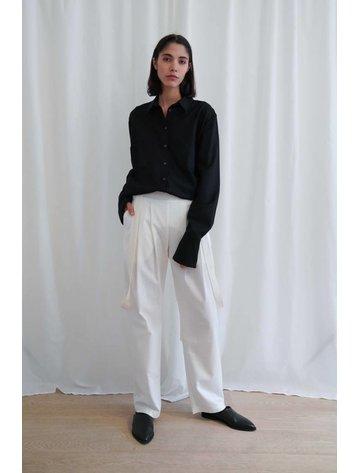 Matin Cotton Twill Pants W. Silk Linen Straps