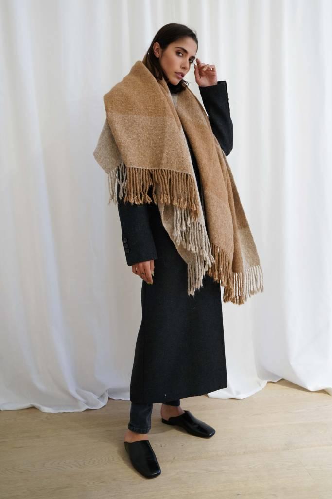 Lauren Manoogian Handwoven Plaid Blanket