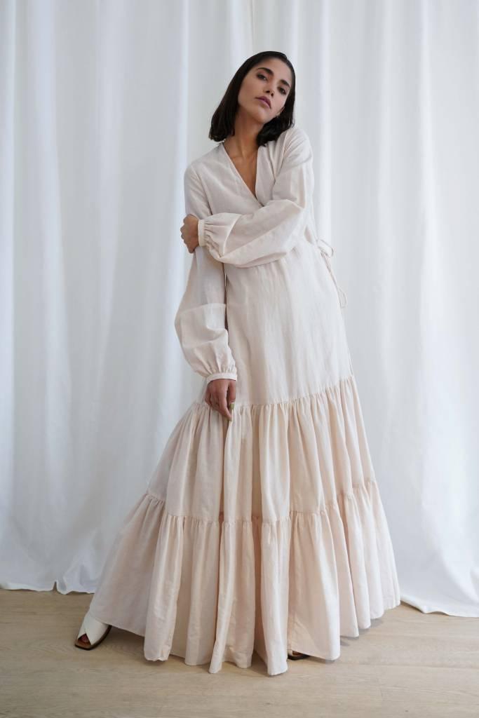 Matin Tiered Wrap Dress