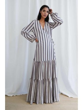 Matin Tiered Wrap Dress
