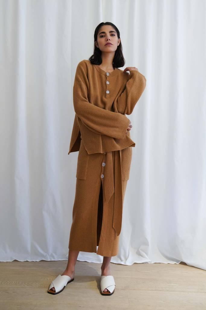 Nanushka Lione Henley knit sweater