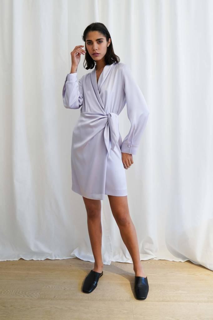Nanushka Siwa wrap front dress