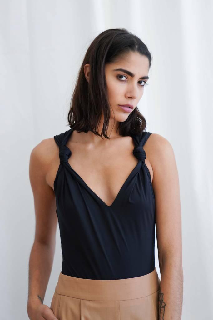 Nanushka Naif knot detail stretch bodysuit