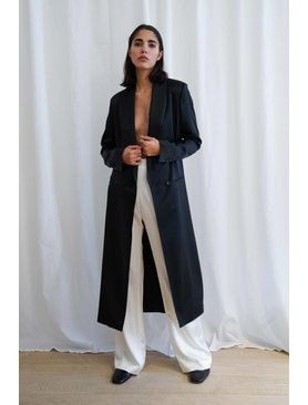 La  Collection Silk adeline Coat
