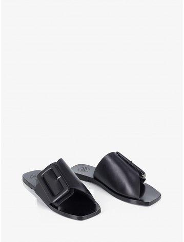 ATP Ceci Black Flat Sandals