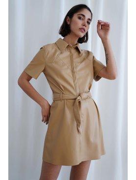 Nanushka Roberta A-line Western Mini Dress