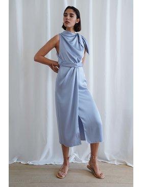 Nanushka Kalila Assymetric Scarf Dress