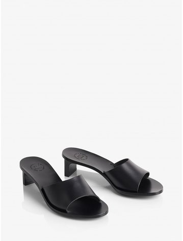 ATP Peonia black heeled sandals