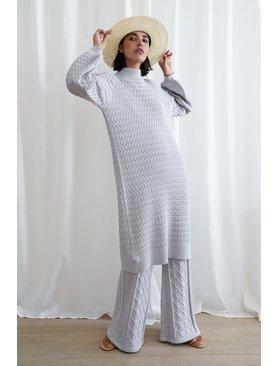 I Love Mr Mittens Lace maxi dress cotton
