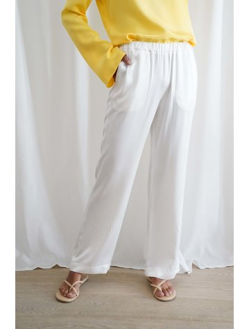La  Collection Aman Long Trousers White
