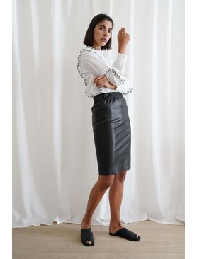 Le Brand Stretch Midi Skirt