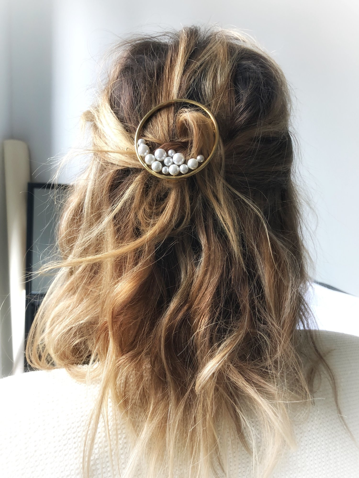 Lelet NY Ocean pearl ring barrette