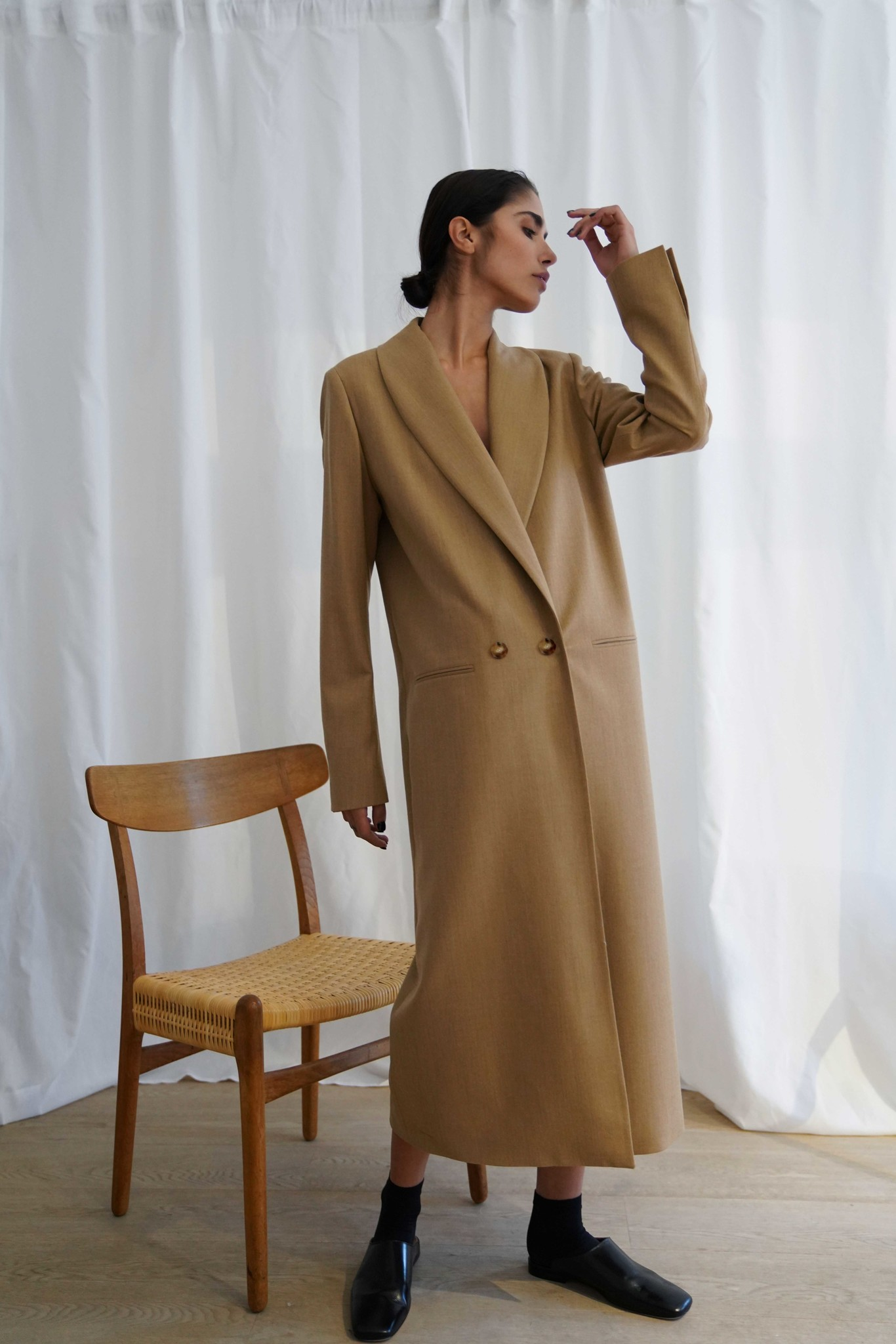 La  Collection Adeline Coat Flannel