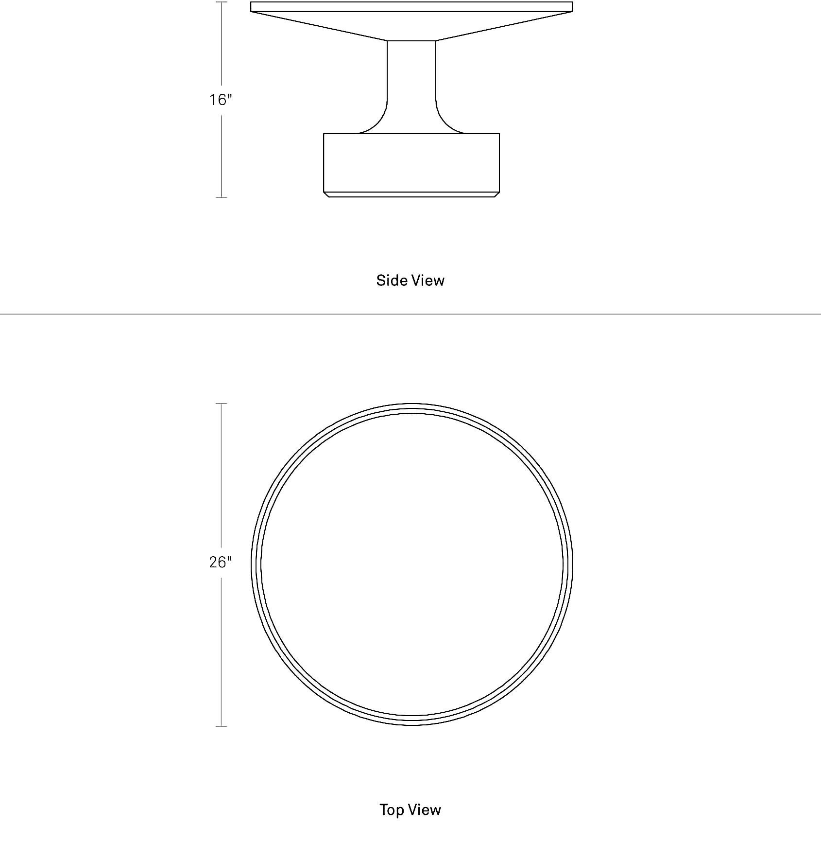 Blu dot Turn Coffee Table