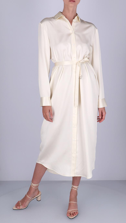 La  Collection Irena Satin Silk Dress