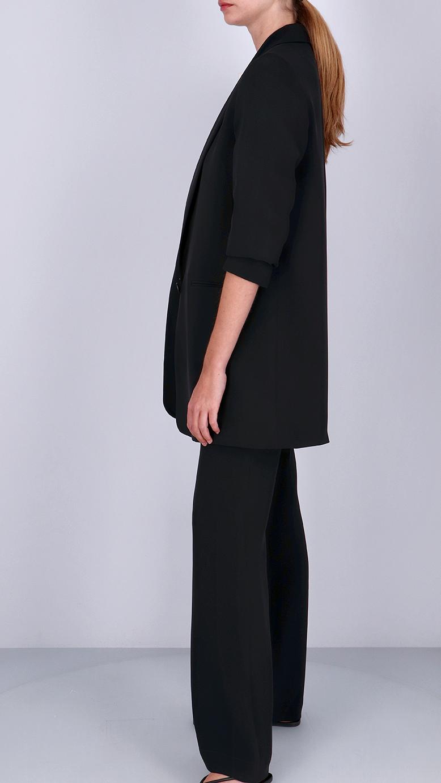 La  Collection Amandine Crepe Silk Blazer