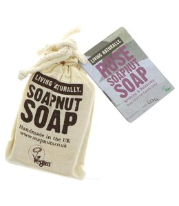 Living Naturally Living Naturally Rose Castile Soapnut Soap 90g
