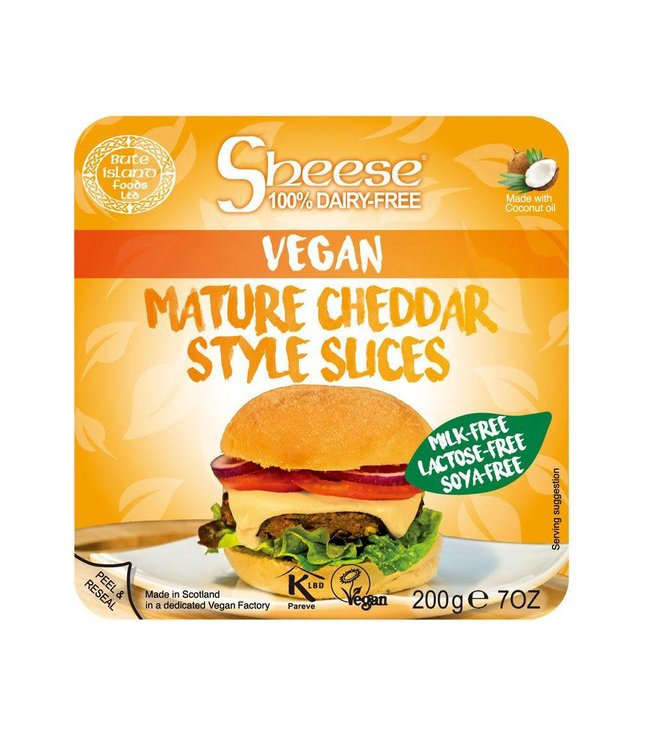 Bute Island Sheese Mature Cheddar Style Sliced 200g
