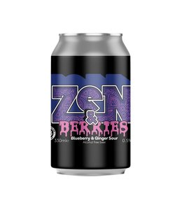 Nirvana Brewery Zen & Berries Blueberry and Ginger Sour 330ml ABV 0.5%