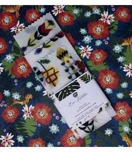 Eco-Kiddles Vegan Reusable Food Wraps - Indie Floral Print