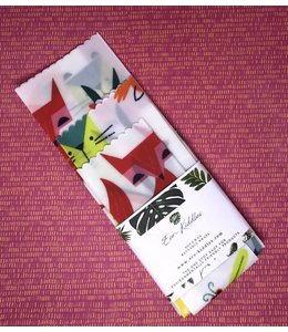 Eco-Kiddles Vegan Reusable Food Wraps - Scandi Animal Print