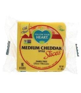 Follow Your Heart Follow Your Heart Medium Cheddar Slices 200g