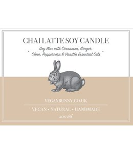 Vegan Bunny Vegan Bunny Chai Latte Soy Candle 200ml