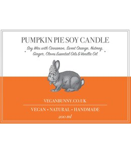 Vegan Bunny Vegan Bunny Pumpkin Pie Soy Candle 200ml