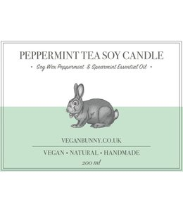 Vegan Bunny Vegan Bunny Peppermint Tea Soy Candle 200ml