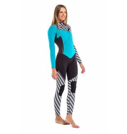 Glidesoul Vibrant Stripes collection Full wetsuit chest zip 3mm