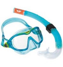 Aqua Lung Reef DX 2 Clear Lens + Snorkel Aqua