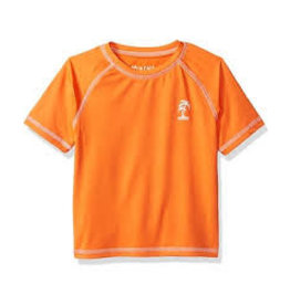 Kittle Boy's Fashion Rash Guard Orange