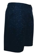 "Men's Fashion ""Hybrid"" Walking/boardshort in Denim print Donker Blauw"