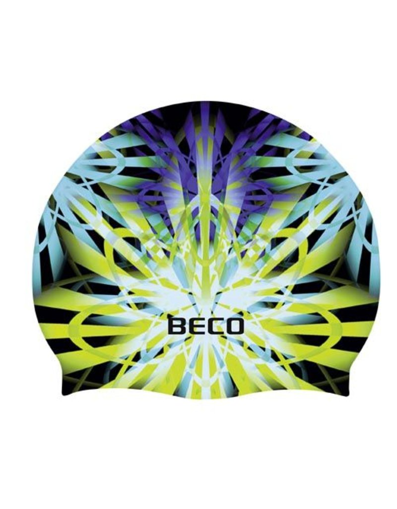 Beco Silicone badmuts, motief donker groen