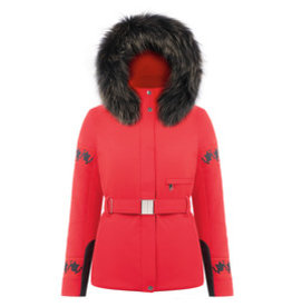 Stretch ski jacket scarlet red