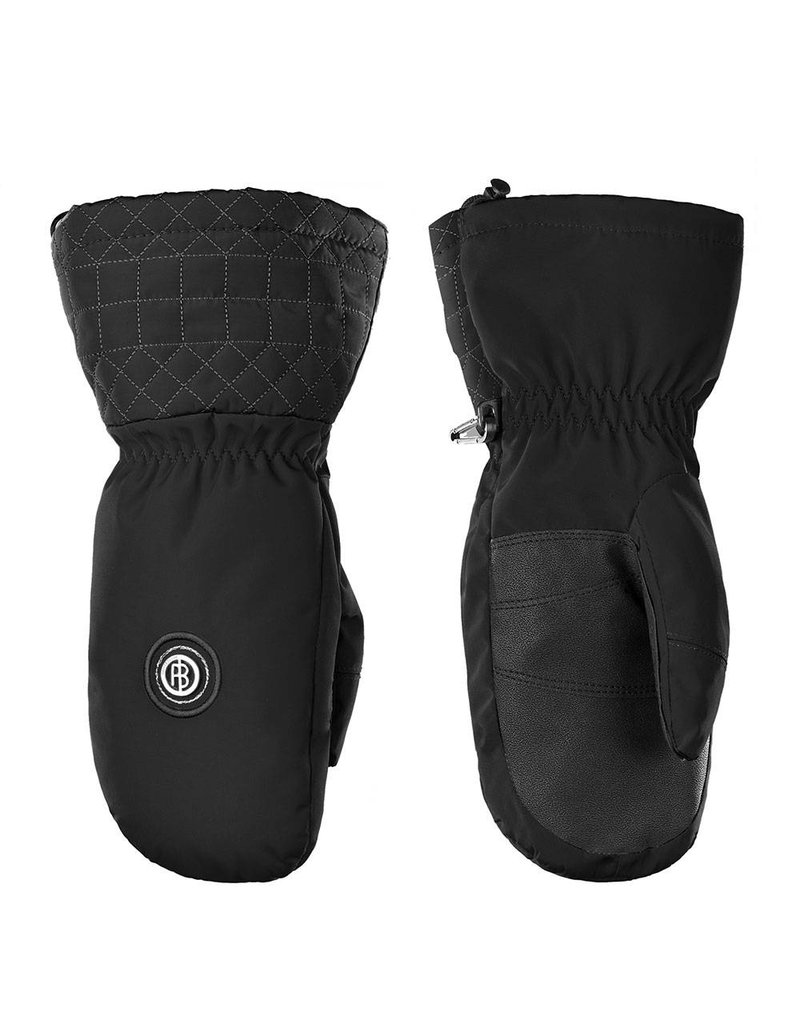 Stretch ski mittens black