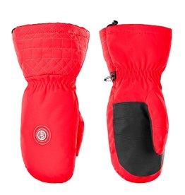 Stretch ski mittens scarlet red